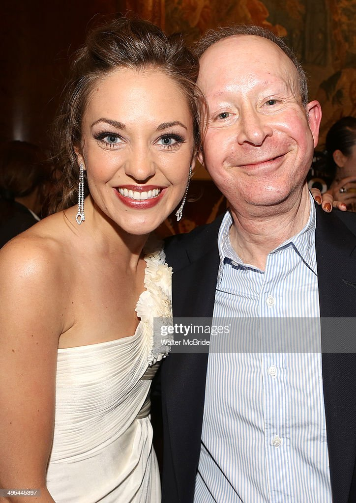 <a gi-track='captionPersonalityLinkClicked' href=/galleries/search?phrase=Laura+Osnes&family=editorial&specificpeople=4213655 ng-click='$event.stopPropagation()'>Laura Osnes</a> and Jack Feldman attends 'A Salute to the Tony Awards' at Paul Stuart on June 2, 2014 in New York City.