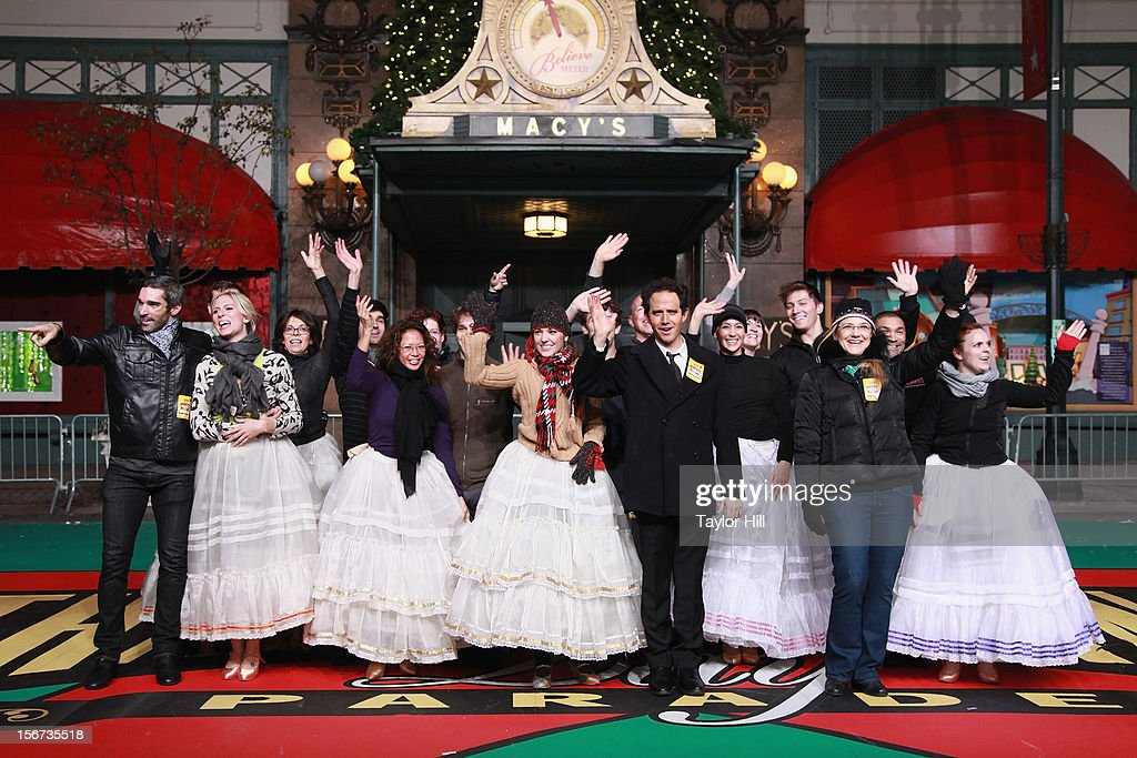 Laura Osnes and Santino Fontana and the Broadway cast of Cinderella perform at Day One of the 86th Anniversary Macy's Thanksgiving Day Parade Rehearsals at Macy's Herald Square on November 19, 2012 in New York City.