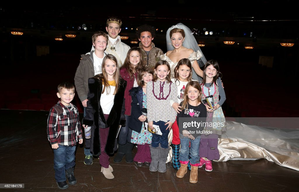 <a gi-track='captionPersonalityLinkClicked' href=/galleries/search?phrase=Laura+Osnes&family=editorial&specificpeople=4213655 ng-click='$event.stopPropagation()'>Laura Osnes</a> and <a gi-track='captionPersonalityLinkClicked' href=/galleries/search?phrase=Santino+Fontana&family=editorial&specificpeople=5460216 ng-click='$event.stopPropagation()'>Santino Fontana</a> with The Robertson Family from 'Duck Dynasty' backstage at 'Cinderella' On Broadway at the Broadway Theatre on November 26, 2013 in New York City.
