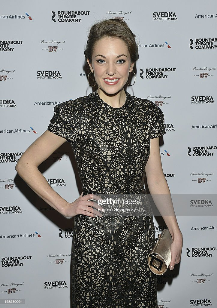 Laura Osnes attends the 2013 Roundabout Theatre Company Spring Gala at Hammerstein Ballroom on March 11, 2013 in New York City.