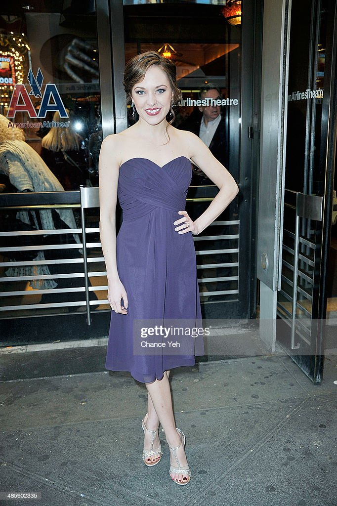 <a gi-track='captionPersonalityLinkClicked' href=/galleries/search?phrase=Laura+Osnes&family=editorial&specificpeople=4213655 ng-click='$event.stopPropagation()'>Laura Osnes</a> attends the 'Violet' Opening Night at American Airlines Theatre on April 20, 2014 in New York City.