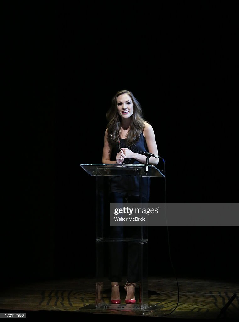 Laura Osnes performs at the 5th Annual National High School Musical Theater Awards at Minskoff Theatre on July 1, 2013 in New York City.