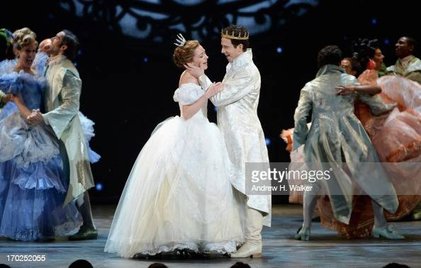 Laura Osnes Santino Fontana and the cast of 'Rogers Hammerstein's Cinderella' perform onstage at The 67th Annual Tony Awards at Radio City Music Hall...