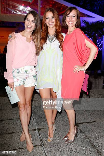 Laura Osswald and Maike von Bremen attend the Raffaello Summer Day 2015 to celebrate the 25th anniversary of Raffaello on June 20 2015 in Berlin...