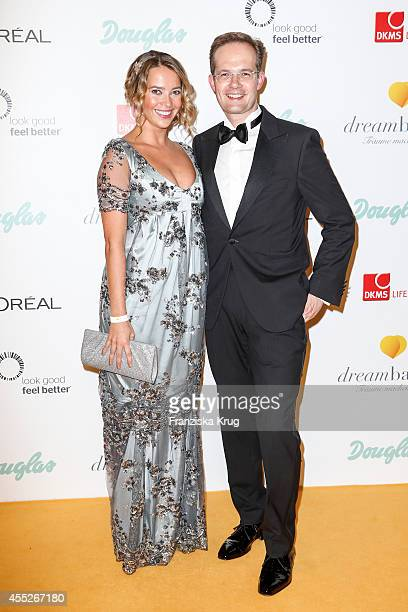 Laura Osswald and Manfred Kroneder attend the Dreamball 2014 at the Ritz Carlton on September 11 2014 in Berlin Germany
