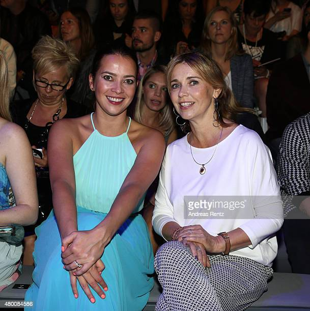 Laura Osswald and Tina Ruland attend the 'Designer for Tomorrow' by Peek Cloppenburg and Fashion ID show during the MercedesBenz Fashion Week Berlin...