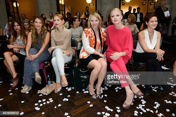 Laura Osswald Julia Dietze Anna Maria Muehe and Franziska Knuppe attend the Frida Weyer show during the MercedesBenz Fashion Week Spring/Summer 2015...
