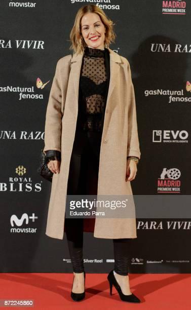 Laura Otero attends the 'Una razon para vivir' premiere on November 9 2017 in Madrid Spain