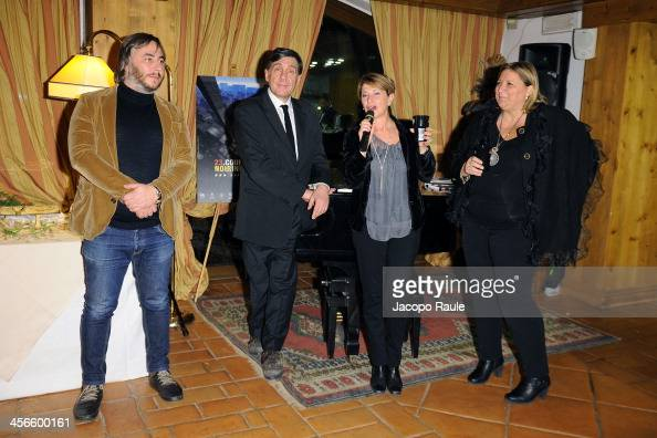 Laura Pace Giorgio Gosetti and Silvia Conforti attend Zucca Spirito Noir Cocktail Party 23rd Courmayeur Noir In Festival on December 14 2013 in...