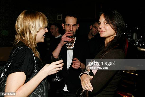 Laura Paterson Andy Salzer and Deirdre Maloney attend ALTOIDS Chocolate Shoppe Opening with Dita Von Teese at 350 Bleeker Street on February 8 2007...
