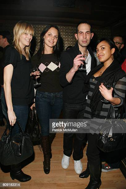 Laura Paterson Deirdre Maloney Andy Salzer and Joy Davis attend ALTOIDS Chocolate Shoppe Opening with Dita Von Teese at 350 Bleeker Street on...