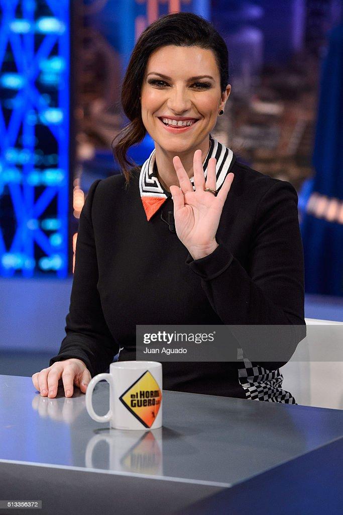 Laura Pausini Attends 'El Hormiguero' Tv Show