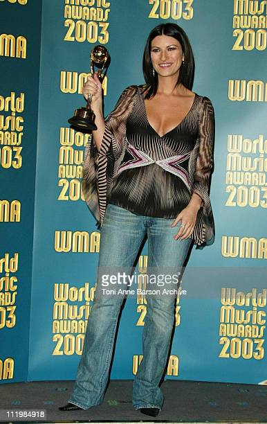 Laura Pausini during 2003 Monte Carlo World Music Awards Press Room at Monte Carlo Sporting Club in Monte Carlo Monaco