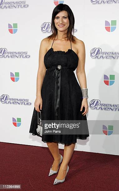 Laura Pausini during 2005 Premios de la Juventud Arrivals at University of Miami in Coral Gables Florida United States