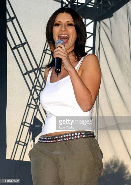 Laura Pausini during '40 Principales' Pop Festival at King Juan Carlos Park in Madrid Spain
