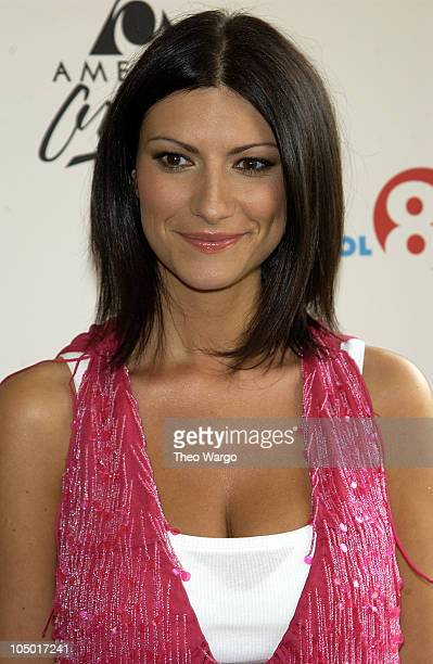 Laura Pausini during AOL 80 Launch and Member Celebration at Avery Fischer Hall in New York City New York United States