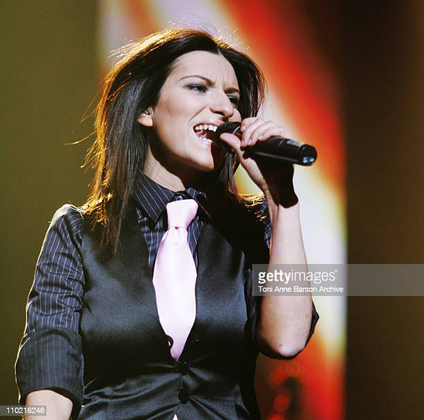Laura Pausini during Laura Pausini in Concert at Nice's Nikaia April 6 2005 at Nikaia in Nice France