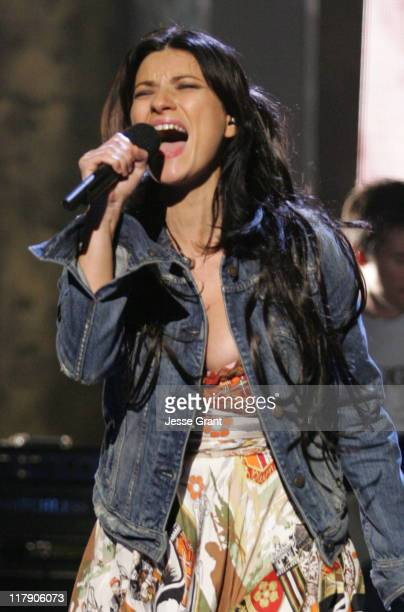 Laura Pausini during The 6th Annual Latin GRAMMY Awards Rehearsals Day One at Shrine Auditorium in Los Angeles California United States
