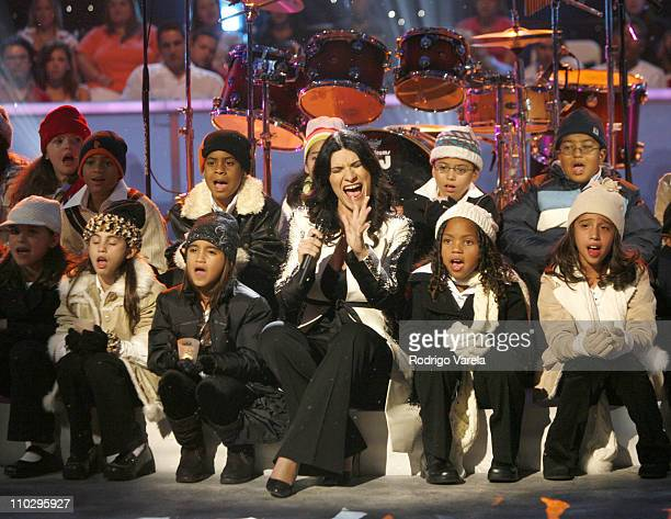 Laura Pausini during Univision Presents Nuestra Navidad Show at Greenwich Studios in Miami FL United States