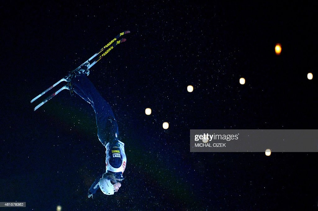 <a gi-track='captionPersonalityLinkClicked' href=/galleries/search?phrase=Laura+Peel&family=editorial&specificpeople=7476976 ng-click='$event.stopPropagation()'>Laura Peel</a> of Australia competes during the Women's Aerials Finals during FIS Freestyle and Snowboarding World Ski Championships 2015 in Kreischberg, Austria on January 15, 2015. <a gi-track='captionPersonalityLinkClicked' href=/galleries/search?phrase=Laura+Peel&family=editorial&specificpeople=7476976 ng-click='$event.stopPropagation()'>Laura Peel</a> of Australia won ahead Kiley McKinnon of United States and Xu Mengtao of China.