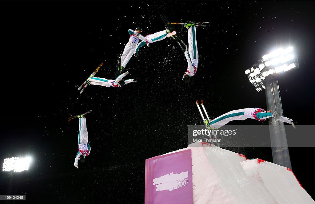 Laura Peel of Australia competes in the Freestyle Skiing Ladies' Aerials Finals on day seven of the Sochi 2014 Winter Olympics at Rosa Khutor Extreme Park on February 14, 2014 in Sochi, Russia.