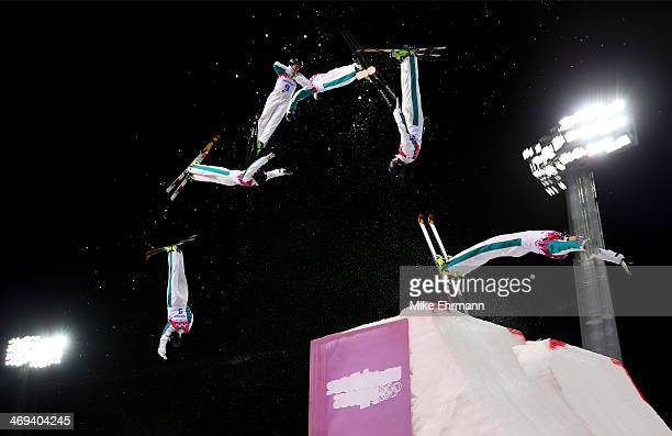 Laura Peel of Australia competes in the Freestyle Skiing Ladies' Aerials Finals on day seven of the Sochi 2014 Winter Olympics at Rosa Khutor Extreme...