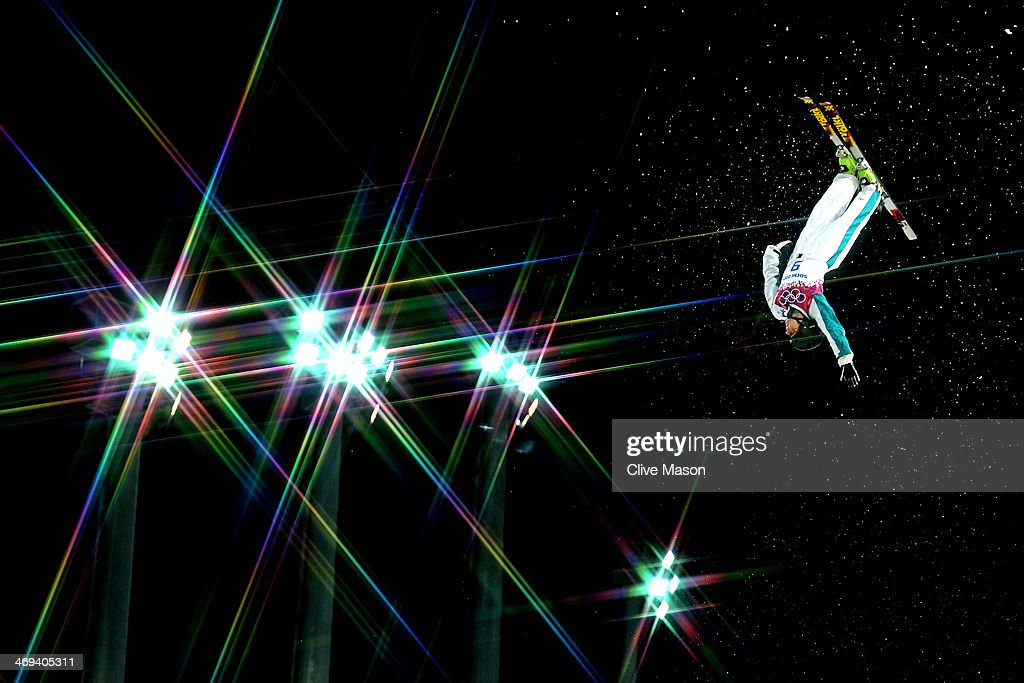Laura Peel of Australia makes a practice jump ahead of the Freestyle Skiing Ladies' Aerials Qualification on day seven of the Sochi 2014 Winter Olympics at Rosa Khutor Extreme Park on February 14, 2014 in Sochi, Russia.