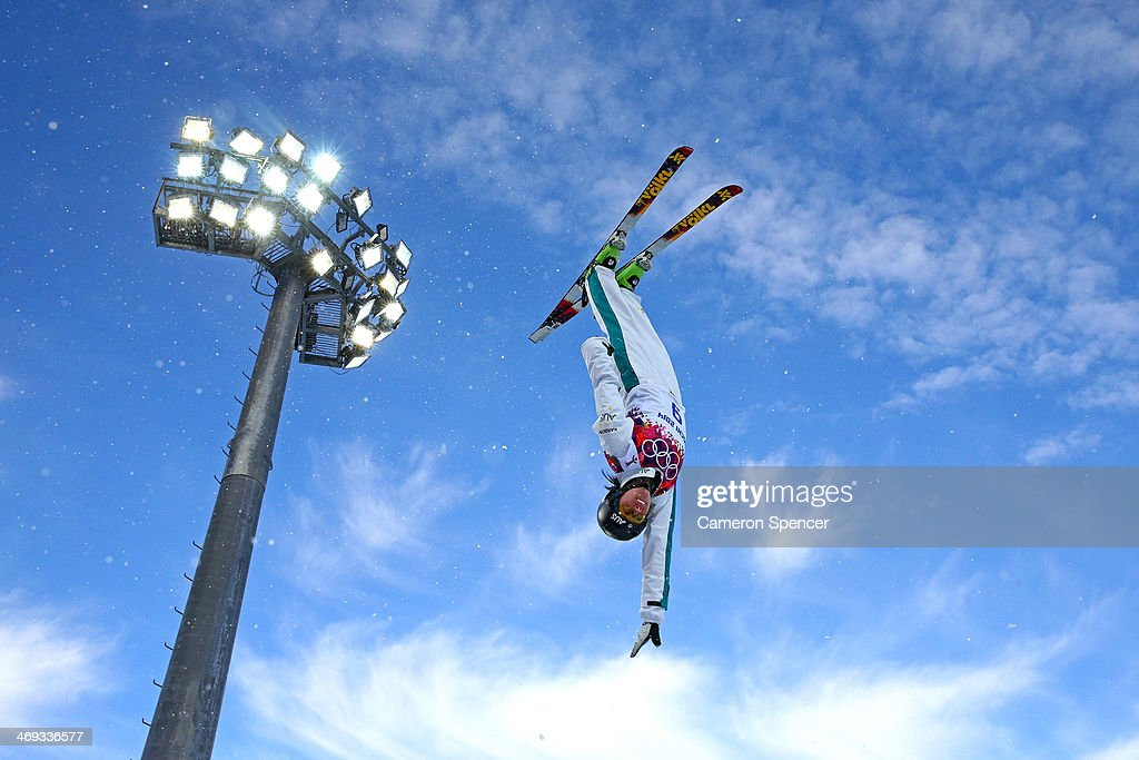 <a gi-track='captionPersonalityLinkClicked' href=/galleries/search?phrase=Laura+Peel&family=editorial&specificpeople=7476976 ng-click='$event.stopPropagation()'>Laura Peel</a> of Australia practices before the Freestyle Skiing Ladies' Aerials Qualification on day seven of the Sochi 2014 Winter Olympics at Rosa Khutor Extreme Park on February 14, 2014 in Sochi, Russia.