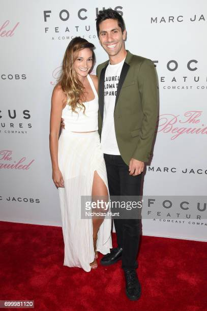 Laura Perlongo and Nev Schulman attend 'The Beguiled' New York Premiere at The Metrograph on June 22 2017 in New York City
