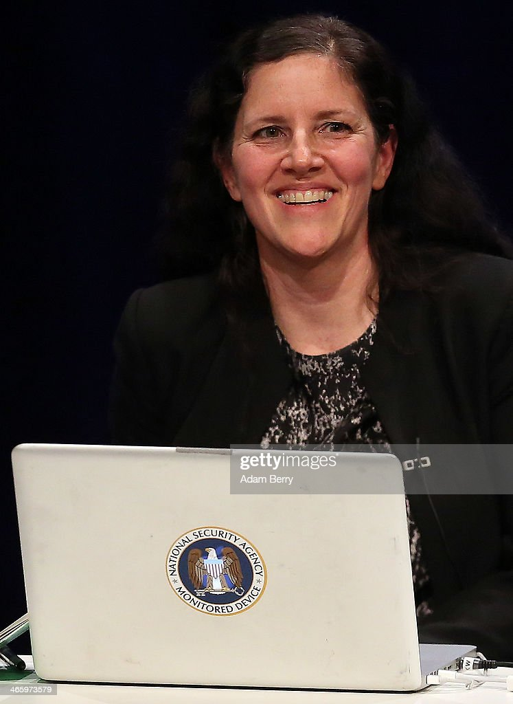 <a gi-track='captionPersonalityLinkClicked' href=/galleries/search?phrase=Laura+Poitras&family=editorial&specificpeople=4163400 ng-click='$event.stopPropagation()'>Laura Poitras</a>, documentary filmmaker and allegedly one of only two people with the full archives of the global surveillance disclosure initiated by former National Security Agency (NSA) contractor Edward Snowden, attends the Transmediale festival for art and digital culture behind her laptop featuring a sticker reading 'National Security Agency Monitored Device' on January 30, 2014 in Berlin, Germany. The festival and year-round project is an attempt to draw out new connections between art, culture and technology.