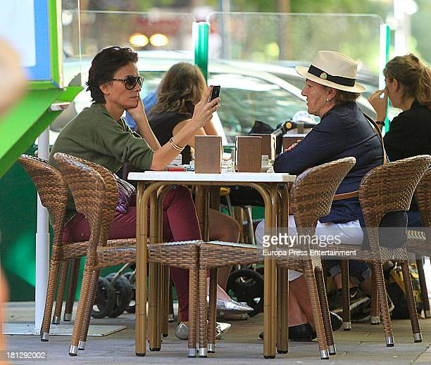 Laura Ponte and her mother Marcela Martinez Zapico are seen on September 19 2013 in Madrid Spain