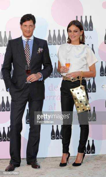 Laura Ponte and Luis Medina attend the 'Cava Rosado' party at the Villamagna Hotel on June 22 2010 in Madrid Spain