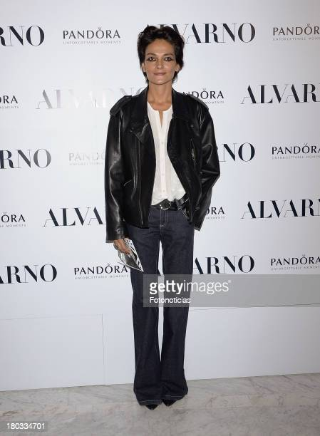 Laura Ponte attends Alvarno fashion show at Palacio de Neptuno on September 11 2013 in Madrid Spain