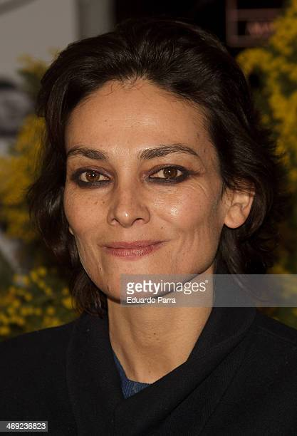 Laura Ponte attends Jorge Vazquez Pret a Porter collection presentation photocall at Royal Botanic Garden on February 13 2014 in Madrid Spain