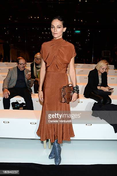 Laura Ponte attends the Gucci show as part of Milan Fashion Week Womenswear Spring/Summer 2014 on September 18 2013 in Milan Italy