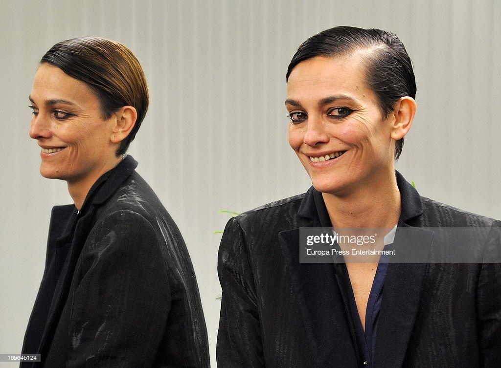 Laura Ponte attends Xavi Garcia's Hairdresser at Salon 44 on April 4, 2013 in Madrid, Spain.