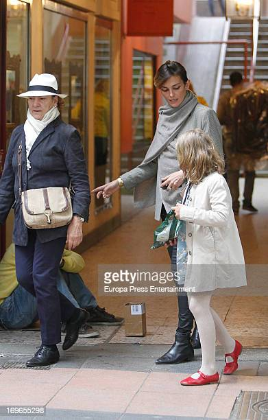 Laura Ponte her mother Marcela Martinez Zapico and her daughter Laura GomezAcebo are seen on May 29 2013 in Madrid Spain