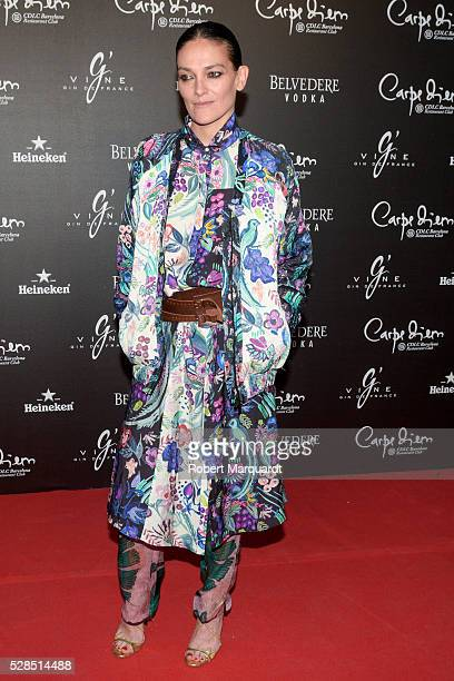 Laura Ponte poses during a photocall for the Flower Power party at Club Carpe Diem on May 5 2016 in Barcelona Spain