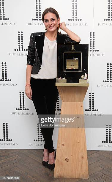 Laura Ponte presents the Luby Lemeral new collection of jewelry on November 23 2010 in Madrid Spain