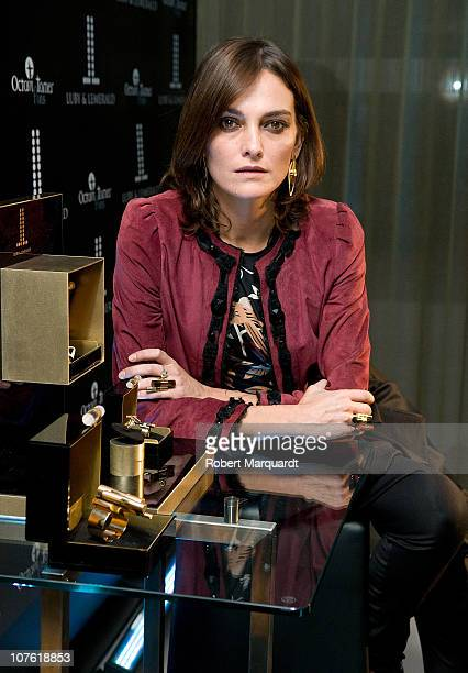 Laura Ponte presents the 'The Tube 010' jewelry collection by Luby Lemerald at the Hotel Mandarian Oriental on December 15 2010 in Barcelona Spain