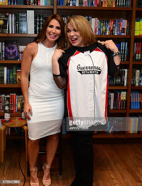 Laura Posada and Ednita Nazario greets fans and signs copies of Laura Posada book 'La dieta mental' at Books and BooksGables on June 4 2015 in Coral...