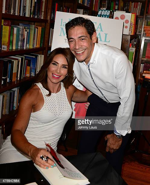 Laura Posada and Johnny Lozada greets fans and signs copies of Laura Posada book 'La dieta mental' at Books and BooksGables on June 4 2015 in Coral...