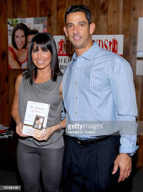 Laura Posada and Jorge Posada promote 'The Beauty of Love' at Bookends Bookstore on September 23 2010 in Ridgewood New Jersey