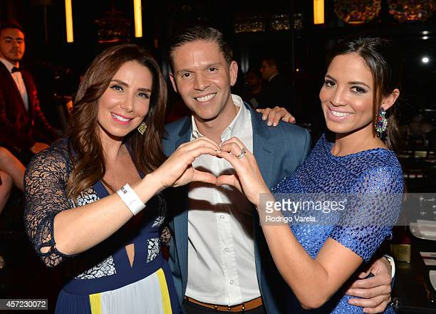 Laura Posada Rodner Figueroa and Pamela Silva Conde attend I Love Venezuelan Foundation Event Cantina La No 20 at The Icon Brickell on October 14...