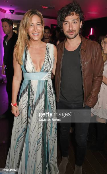 Laura Pradelska and Alex Zane attend the #YSLBeautyClub party in collaboration with Sink The Pink at The Curtain on August 3 2017 in London England