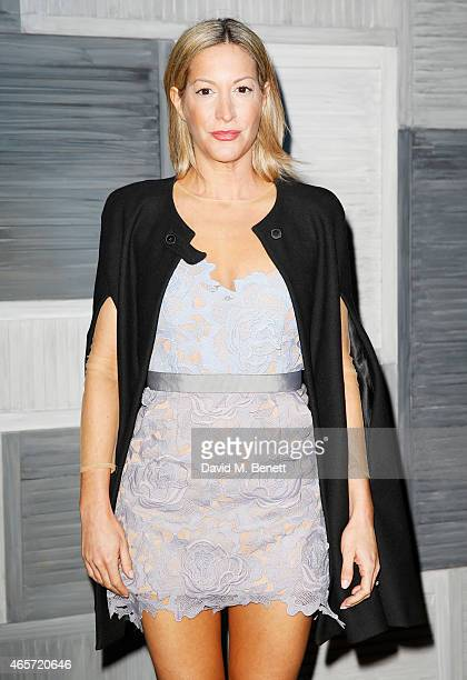 Laura Pradelska arrives at a party hosted by Instagram's Kevin Systrom and Jamie Oliver This is their second annual private party taking place at...