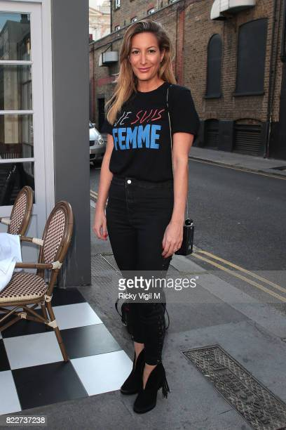 Laura Pradelska attends egaliTee launch party at Geales Restaurant on July 25 2017 in London England