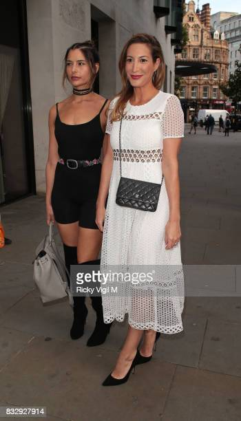Laura Pradelska attends LOTD launch party at Radio Rooftop Bar on August 16 2017 in London England