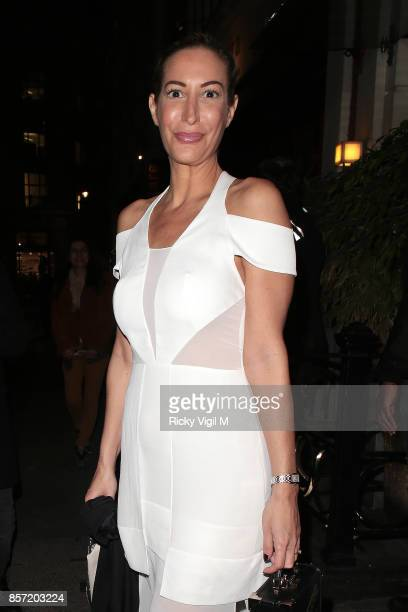Laura Pradelska attends Retna Margraves private view at Maddox Gallery Mayfair on October 3 2017 in London England