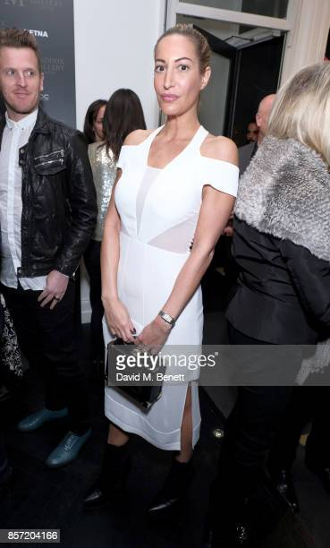 Laura Pradelska attends RETNA's Exhibition supported by Ciroc Victor Jet Rolls Royce at the Maddox Gallery on October 3 2017 in London England